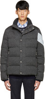 Moncler Gamme Bleu Grey Quilted Down Jacket