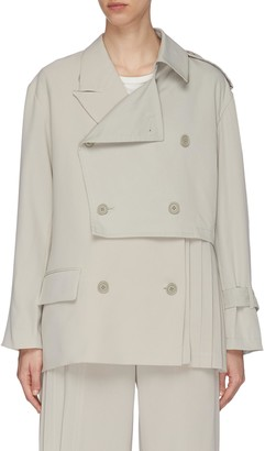 The Keiji Panelled side pleat trench jacket