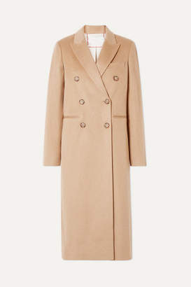 Victoria Beckham Double-breasted Wool Coat - Camel