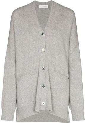 Extreme Cashmere Button-Up Knitted Cardigan