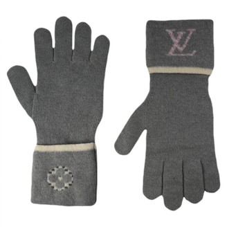 Louis Vuitton Grey Wool Gloves