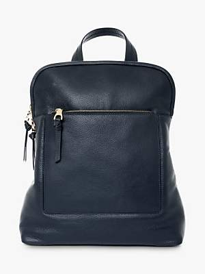 Jaeger Oxford Leather Backpack, Navy