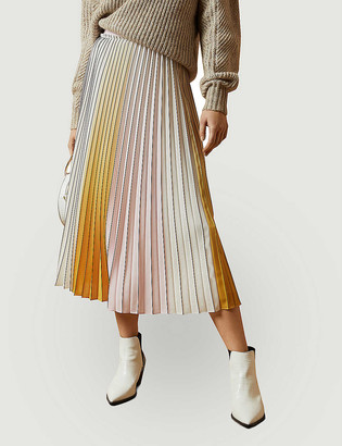 Ted Baker Noviia pleated woven midi skirt