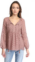 Daniel Rainn Sheer Peasant Dot Blouse