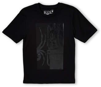 Spyder Boys 8-20) Black Glossy Logo Tee