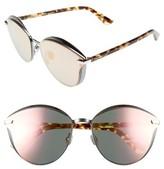 Christian Dior Women's Murmure 62Mm Cat Eye Sunglasses - Dark Ruthenium/ Blue