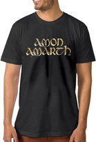 ZSHIWENH Men's Amon Amarth Band Gold Logo T-shirt