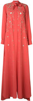 Carolina Herrera embroidered Georgette gown - women - Silk - M