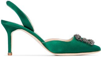 Manolo Blahnik Hangisi 70mm slingback pumps
