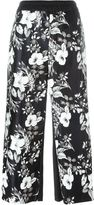 I'M Isola Marras cropped floral print trousers - women - Polyester/Polyurethane/Viscose - 42
