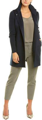 Forte Cashmere Mock Collar Wool & Cashmere-Blend Coat