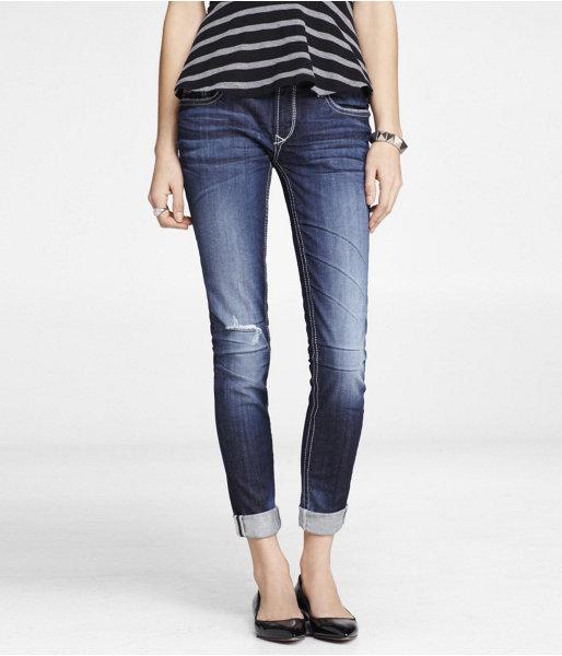 Rerock Cropped Rolled Skinny Leg Jean