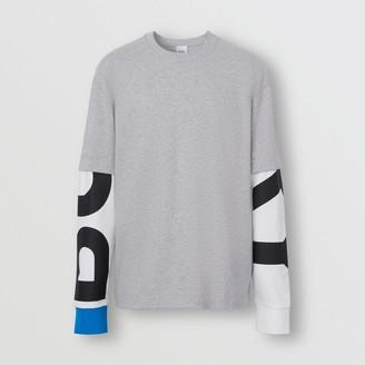 Burberry Logo Print Sleeve Cotton T-shirt