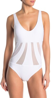 Mossimo Del Mar Mesh Cutout One-Piece Swimsuit