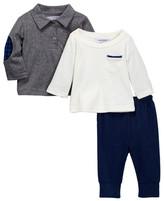 Isaac Mizrahi Long Sleeve Top, Cardigan & Pant Set (Baby Boys)