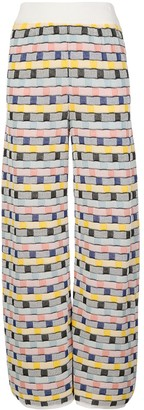 M Missoni wide-leg abstract trousers