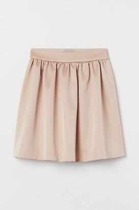 H&M Flared Satin Skirt