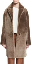 Helmut Lang Reversible Shearling Coat, Bisque