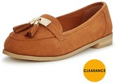Very Lynda Extra Wide Fit Tasseled Loafer - Tan