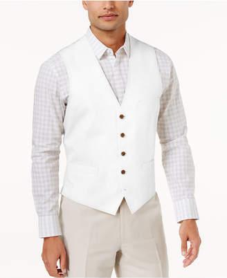 INC International Concepts Inc Men Linen Blend Vest