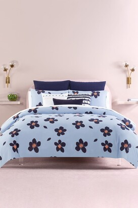 Kate Spade Blue Grand Floral Full/Queen Comforter 3-Piece Set