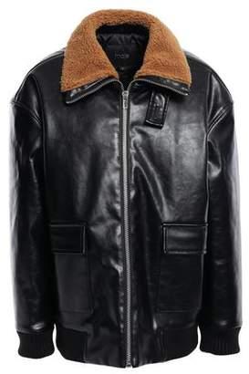 Maje Faux Leather Bomber Jacket