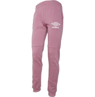 Umbro Mens Active Style Skinny Jog Pants Dusty Pink/White