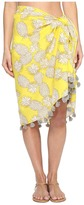 San Diego Hat Company BSS1718 Woven Cotton All Over Pineapple Print Sarong with Tassels Women's Swimwear
