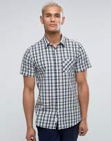 Jack Wills Stableton Regular Fit Short Sleeve Check Shirt In Navy