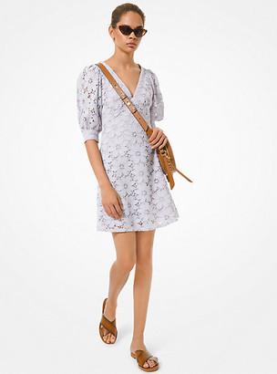 MICHAEL Michael Kors MK Floral Lace Dress - Lavender Mist - Michael Kors
