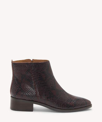 Lucky Brand Women's Lenree Ankle Bootie Chinchilla Size 5 Leather From Sole Society