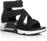 Ash Lips Multi Strap Sport Demi Wedge Sandals