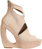 Ann Demeulemeester Cutout-Detailed Wedge Ankle Boots