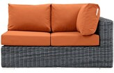 Keiran Left Arm Loveseat Sectional Piece with Cushions Brayden Studio Color: Tuscan
