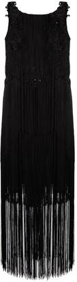 Alberta Ferretti Mid-Length Embellished Tassel Dress