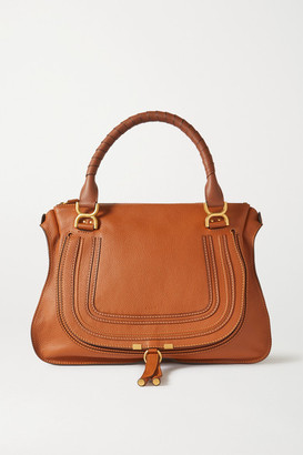 Chloé Marcie Large Textured-leather Tote - Tan