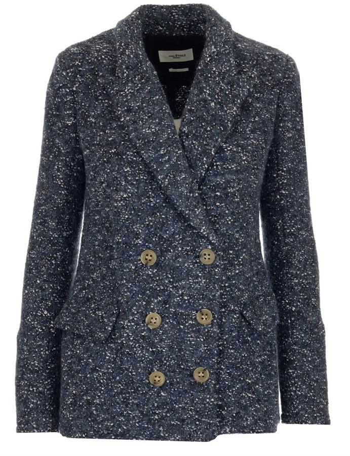 Thumbnail for your product : Etoile Isabel Marant Hendac Double-Breasted Tweed Blazer