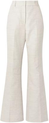 Rebecca Vallance Maya Cotton And Linen-blend Flared Pants