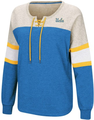 Colosseum Women's Blue UCLA Bruins Become Great Lace-Up Pullover Fleece Sweatshirt