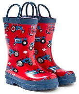 Hatley Red Farm Tractor Print Wellies