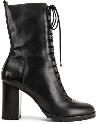Alexandre Birman Lace Up Combat Boots in Black | FWRD