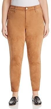 Seven7 Jeans Plus Faux Suede Skinny Pants
