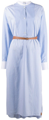 Loewe Cotton Shirtdress With Leather Belt