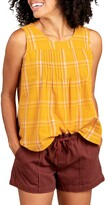 Thumbnail for your product : Toad&Co Willet Pintuck Plaid Organic Cotton Tank