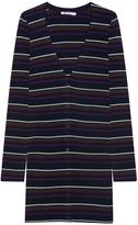Alexander Wang Striped Stretch Knit Cardigan