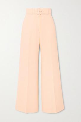Emilia Wickstead Jana Belted Cloque Wide-leg Pants - Cream