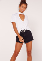 Missguided Choker T Shirt White