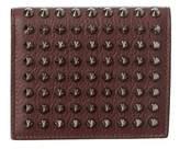 Christian Louboutin Paros Studded Leather Coin Bifold Wallet.