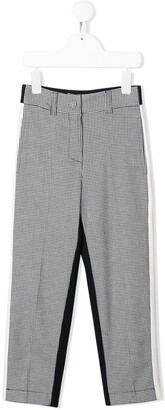 MonnaLisa Stripe Detail Houndstooth Trousers