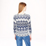 J.Crew Merino wool baseball sweater in trellis floral